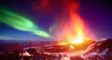 Scatti pazzeschi: aurora boreale e vulcani islandesi