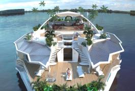 In vacanza su un'isola galleggiante (e di lusso)