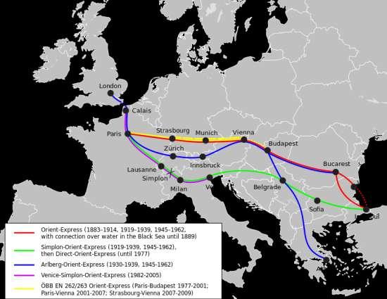 Gli itinerari storici dell'Orient Express