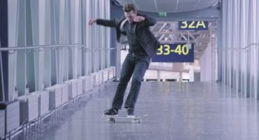 In skateboard nell'aeroporto di Helsinki!