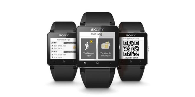 L'applicazione di Vueling per gli SmartWatch della Sony