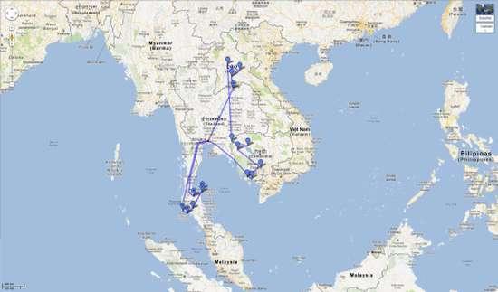 L'itinerario del falso viaggio di Zilla