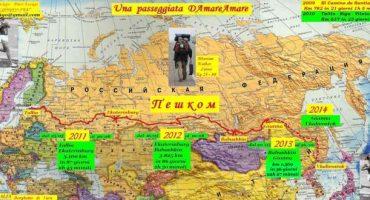 Attraversare la Russia a piedi, l'impresa di Pier Luigi Delvigo