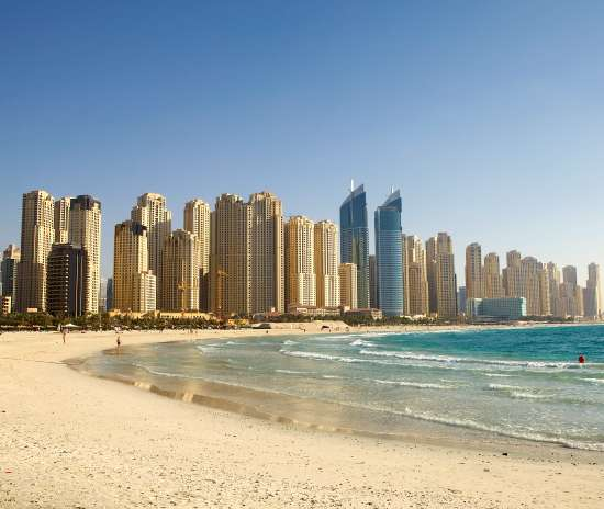 La spiaggia urbana di Dubai