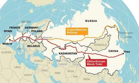 Confronto tra la nuova linea e la Transiberiana