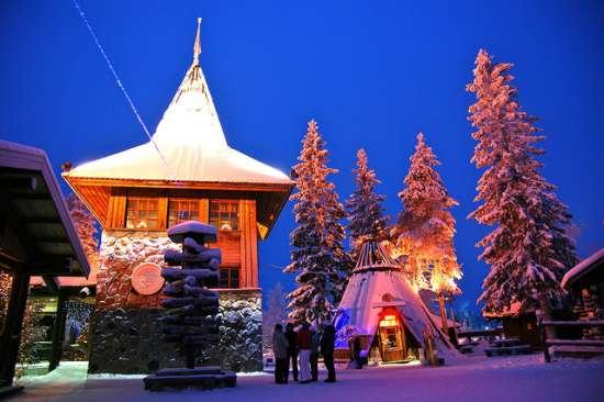Il villaggio di Santa Claus a Rovaniemi, Finlandia