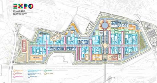 Planimetria del sito Expo 2015