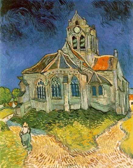 La chiesa di Auvers-sur-Oise in un dipinto di Van Gogh