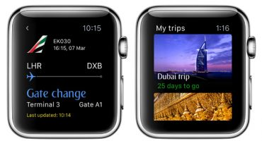 La nuova app di Emirates per Apple Watch