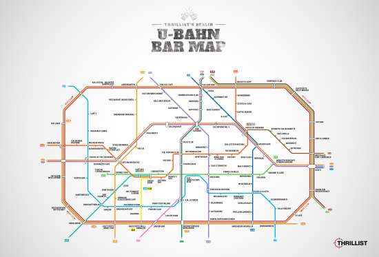 Metro Bar Map di Berlino