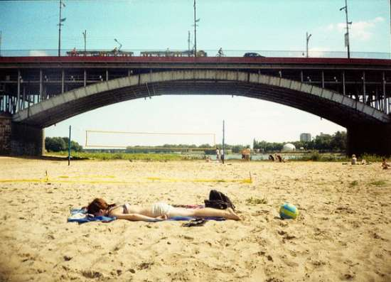 Spiaggia sulla Vistola