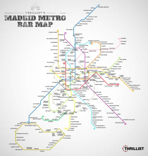Metro Bar Map di Madrid