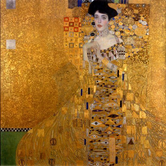 """Gustav Klimt, """"Ritratto di  Adele Bloch-Bauer I"""",  Neue Galerie, New York."""