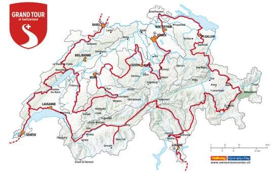 Mappa del Grand Tour