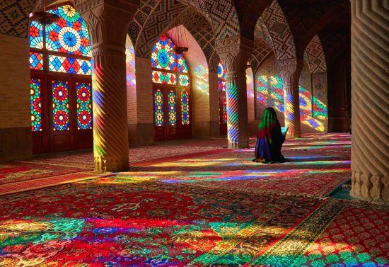 Interno della moschea Masjed-e Nasir-al-Molk