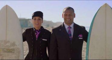 Air New Zealand, la sicurezza aerea con le star del surf