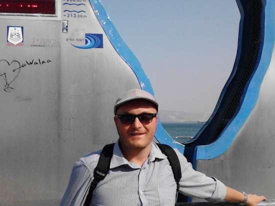 Daniele presso il Lago di Tiberiade