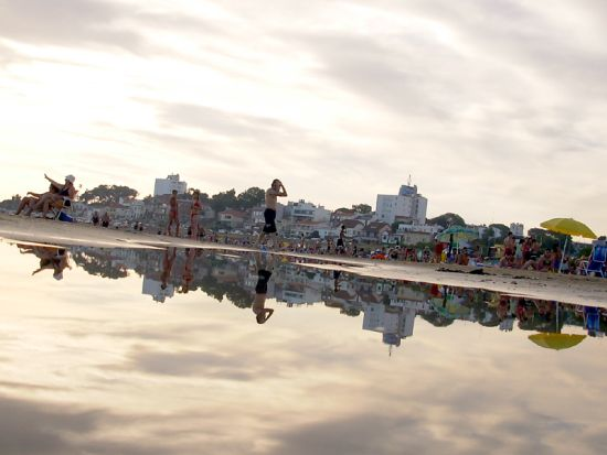 Una spiaggia di Montevideo