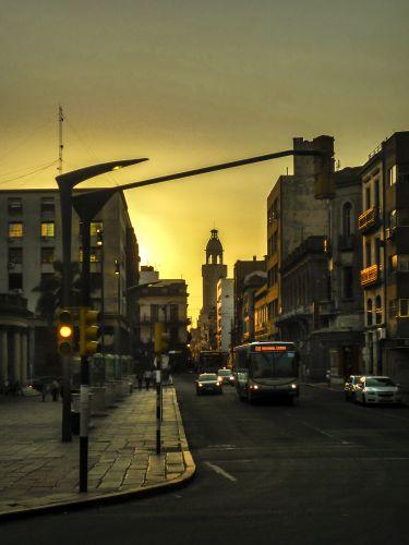 Urban Sunset Scene, Montevideo, Uruguay