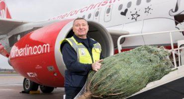 Air Berlin offre il trasporto gratuito dell'albero di Natale