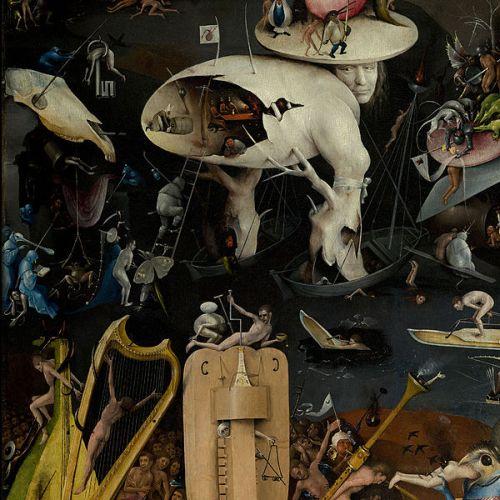 Hieronymus Bosch, Inferno musicale, dettaglio del Giradino delle Delizie, El Prado