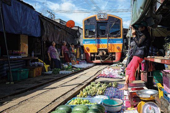 Maeklong Market Railway