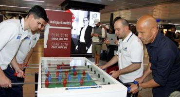Calcio balilla negli aeroporti romani