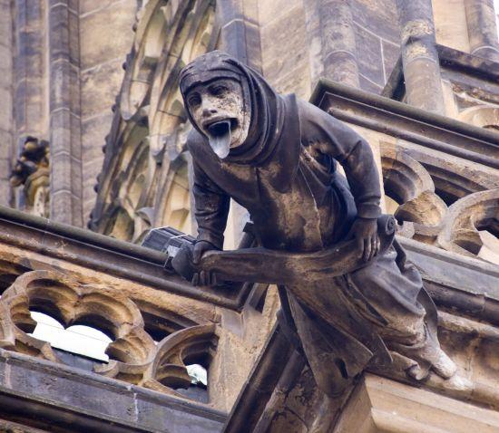 Gothic style Gargoyle on St Vitus' Cathedral Prague