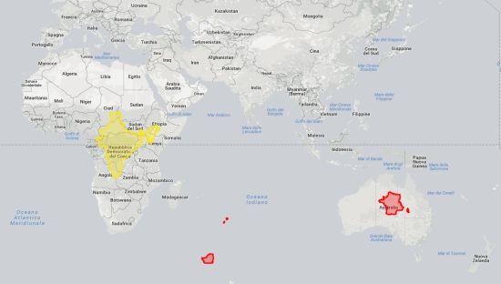 mappa francia india
