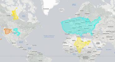 True Size: la mappa per confrontare le dimensioni dei Paesi
