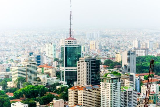 Business center of Ho Chi Minh City