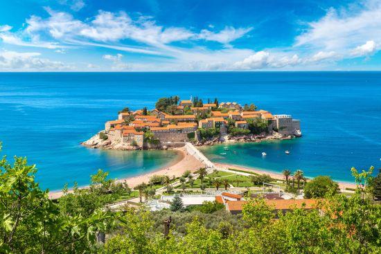 La penisola di Sveti Stefan