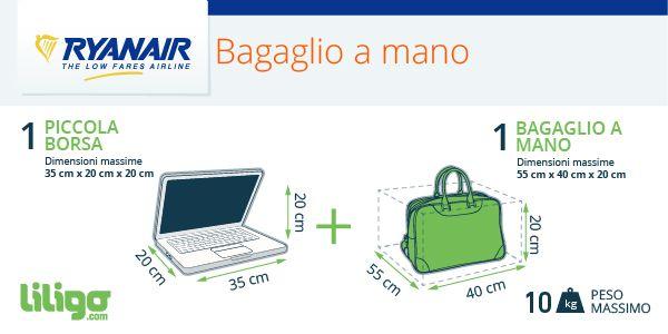 Bagagli ryanair tutte le novit e le informazioni utili for Emirati limite di peso del bagaglio a mano