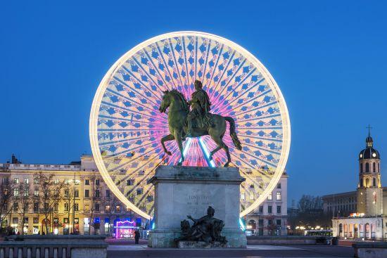 La statua di Luigi XIV a Place Bellecour