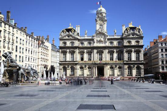 Place des Terreaux e l'Hôtel de Ville