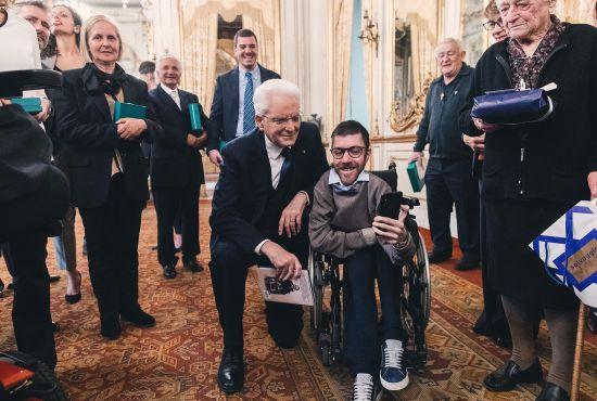 Iacopo col Presidente Mattarella