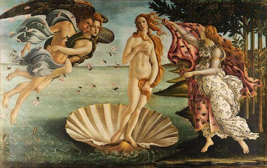 Nascita di Venere, Botticelli, Galleria degli Uffizi
